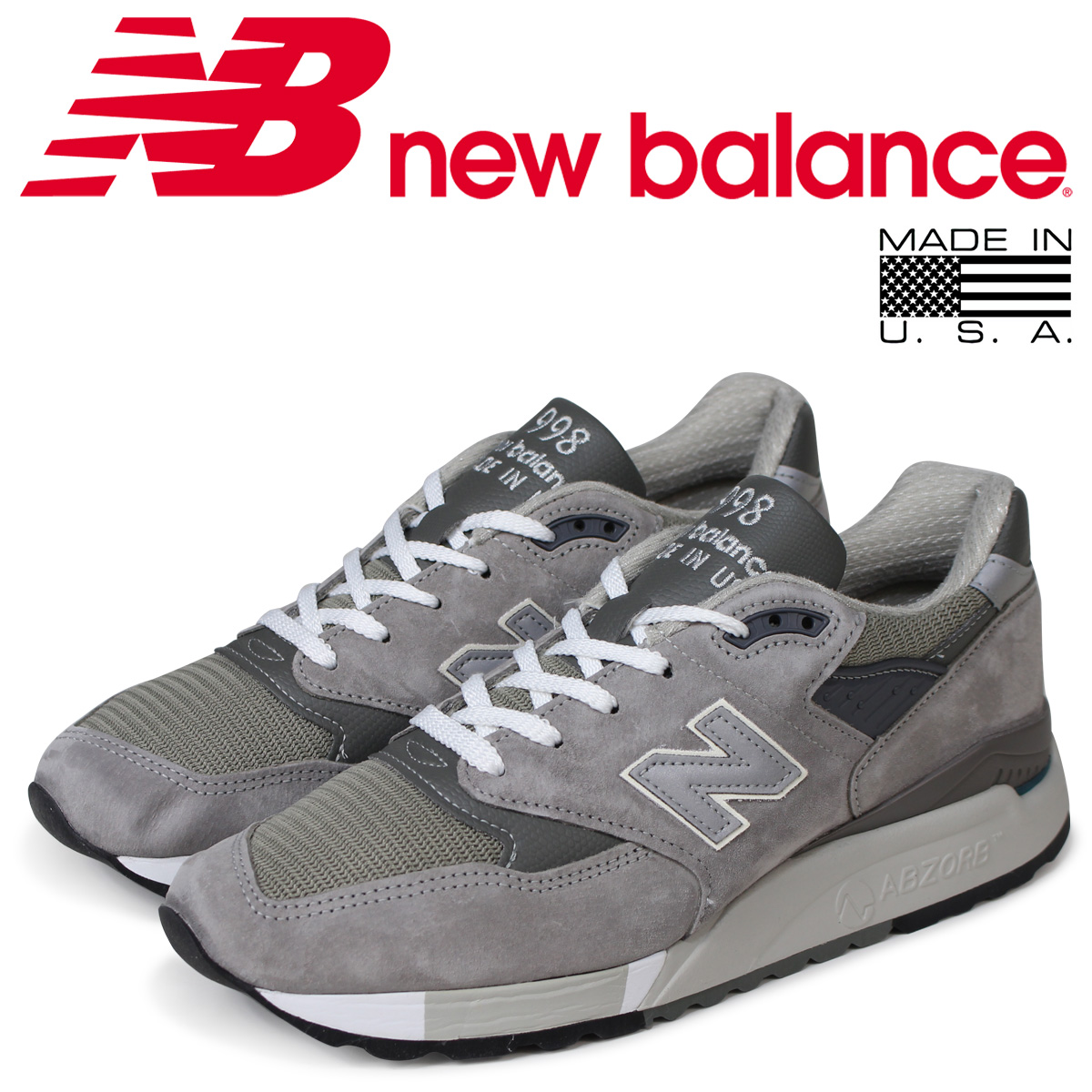 new balance ニューバランス スニーカー M998 GY MADE IN USA Dワイズ メンズ 靴 グレー