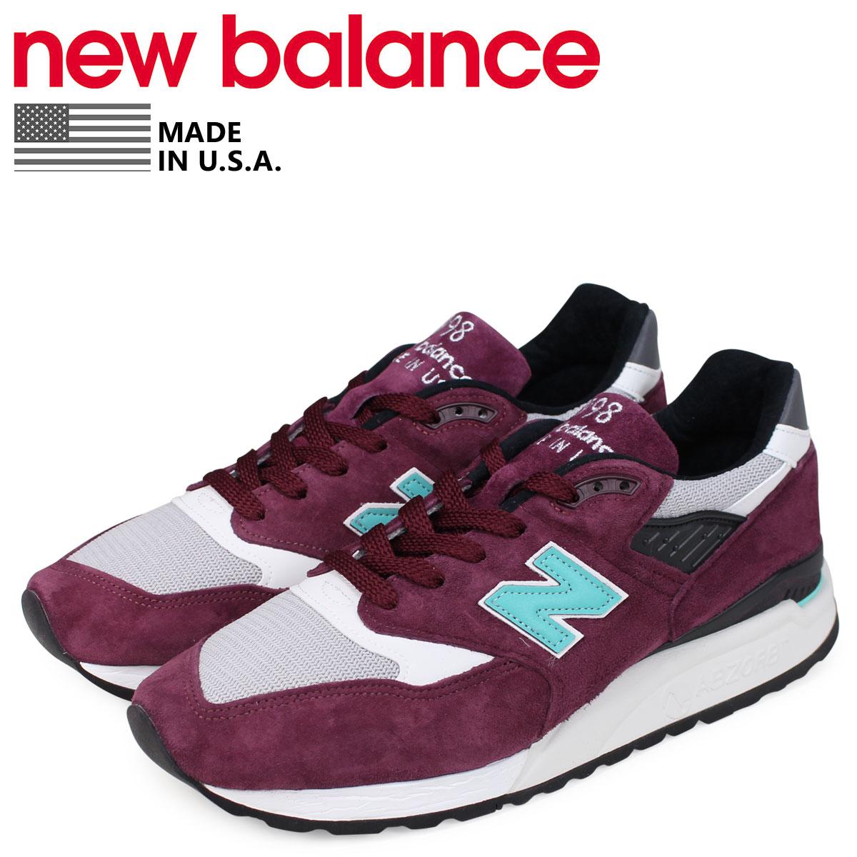 new balance 998 burgundy