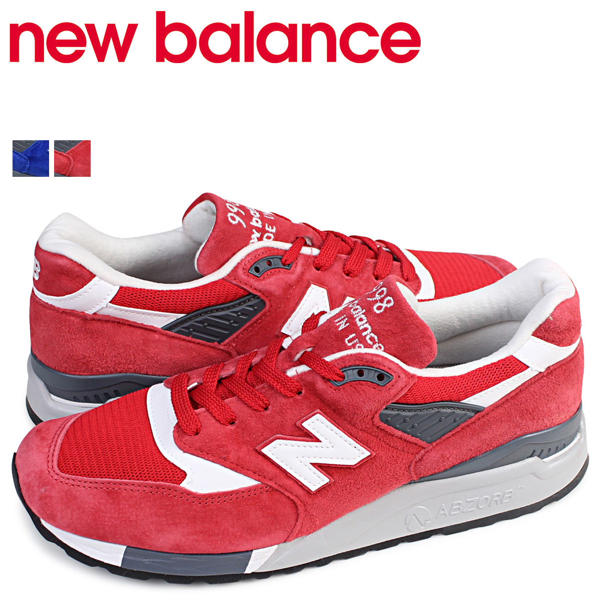 sale retailer 57bba 93e3b new balance 998 men's New Balance sneakers M998CRD M998CBU D Wise shoes red  red