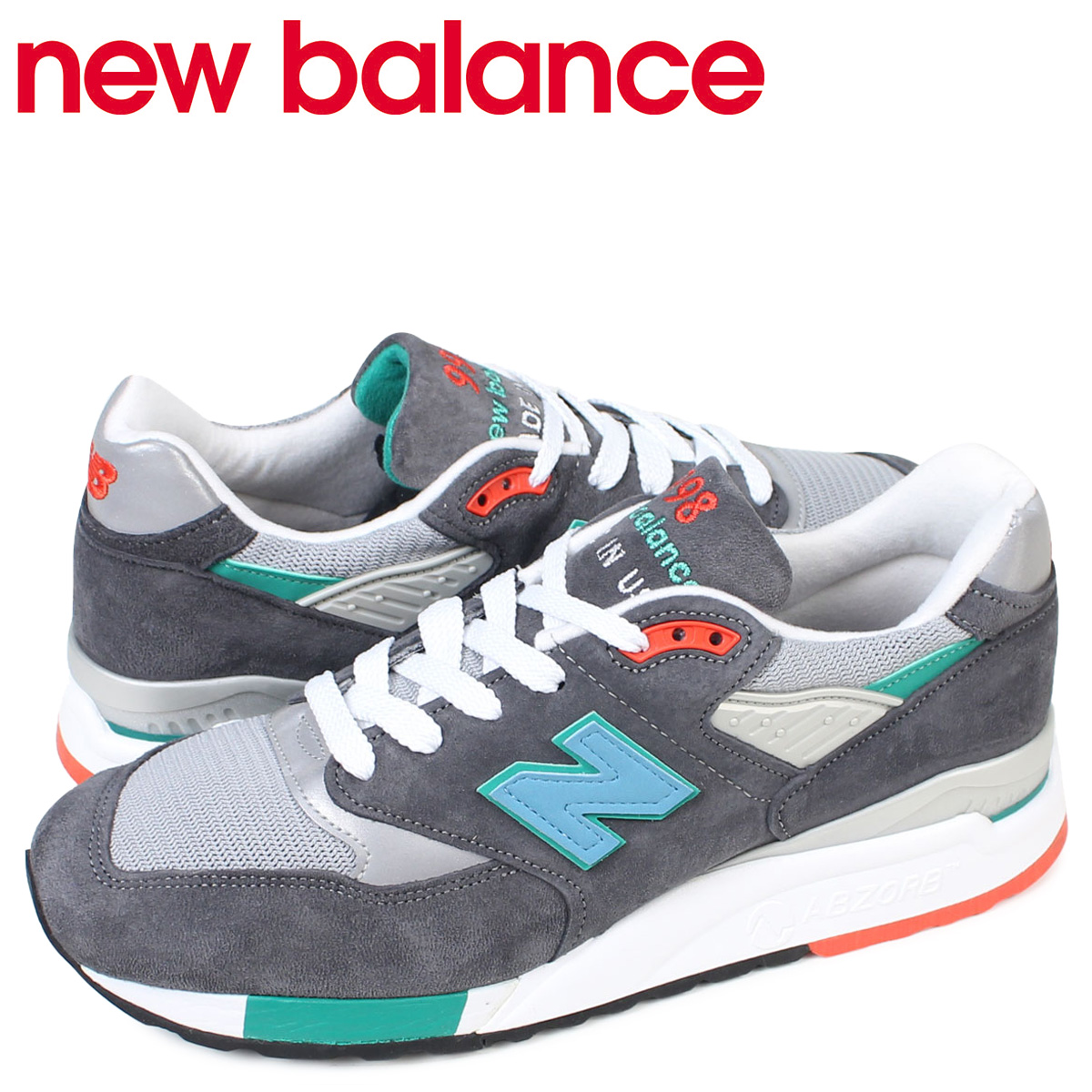separation shoes 940d8 31582 new balance 998 men's New Balance sneakers M998CSRR D Wise MADE IN USA  shoes gray