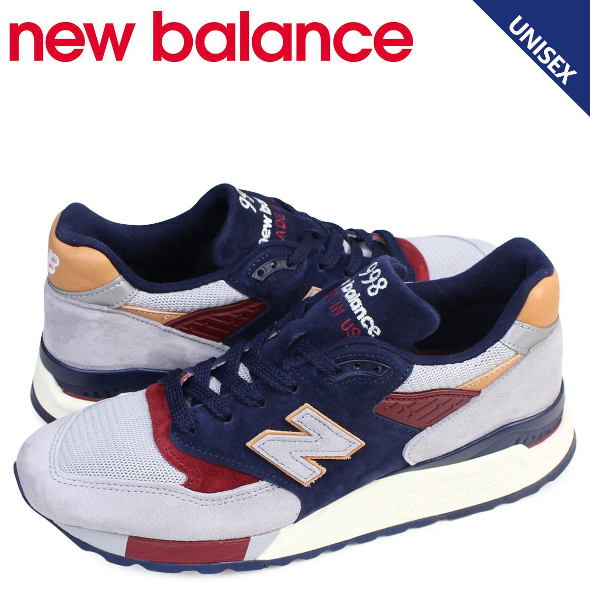 new balance 998 メンズ レディース ニューバランス スニーカー M998CSU Dワイズ MADE IN USA 靴 ネイビー