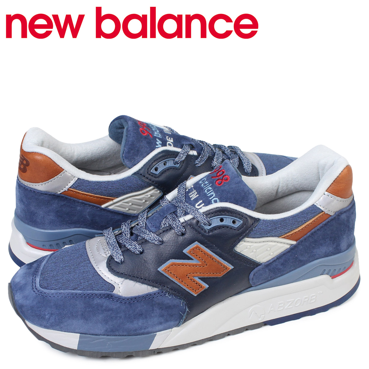save off 30062 35a84 new balance 998 men's New Balance sneakers M998DSNG D Wise MADE IN USA  shoes navy