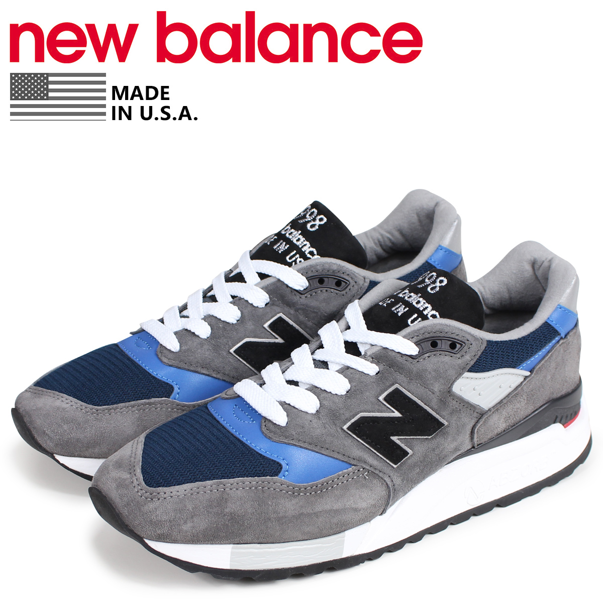 release date 63033 0b3a8 new balance 998 men's New Balance sneakers M998NF D Wise MADE IN USA gray