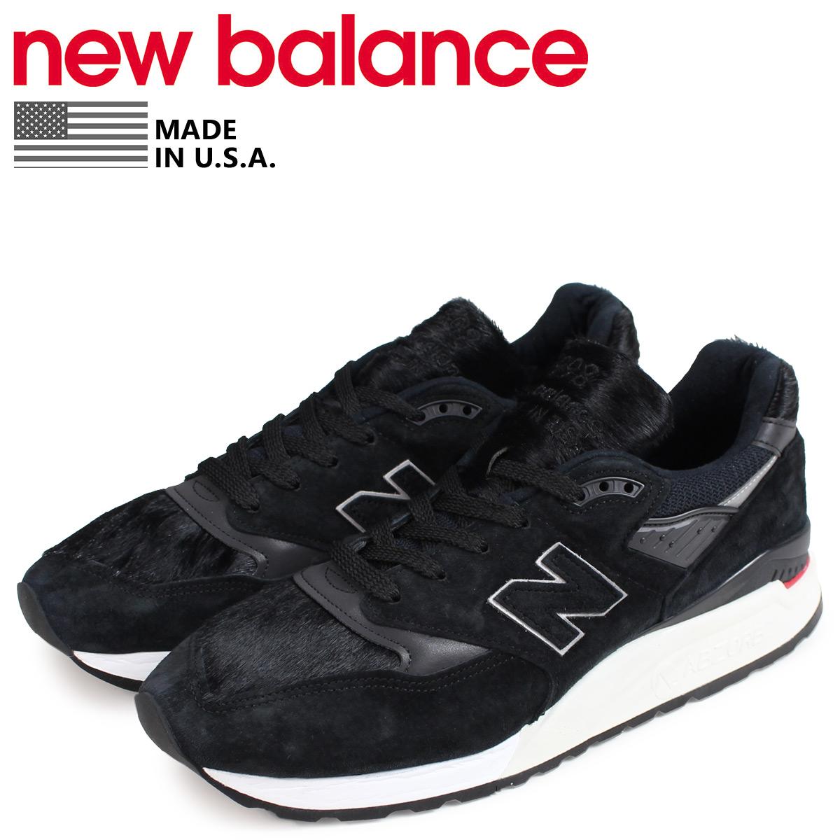 new balance 998 メンズ ニューバランス スニーカー M998TCB Dワイズ MADE IN USA ブラック 黒