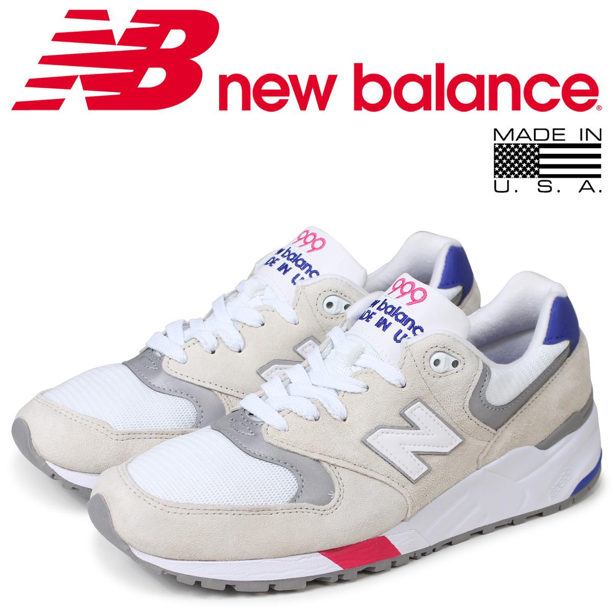 new balance 999 メンズ ニューバランス スニーカー M999WEA Dワイズ MADE IN USA ホワイト 白 [3/11 追加入荷]