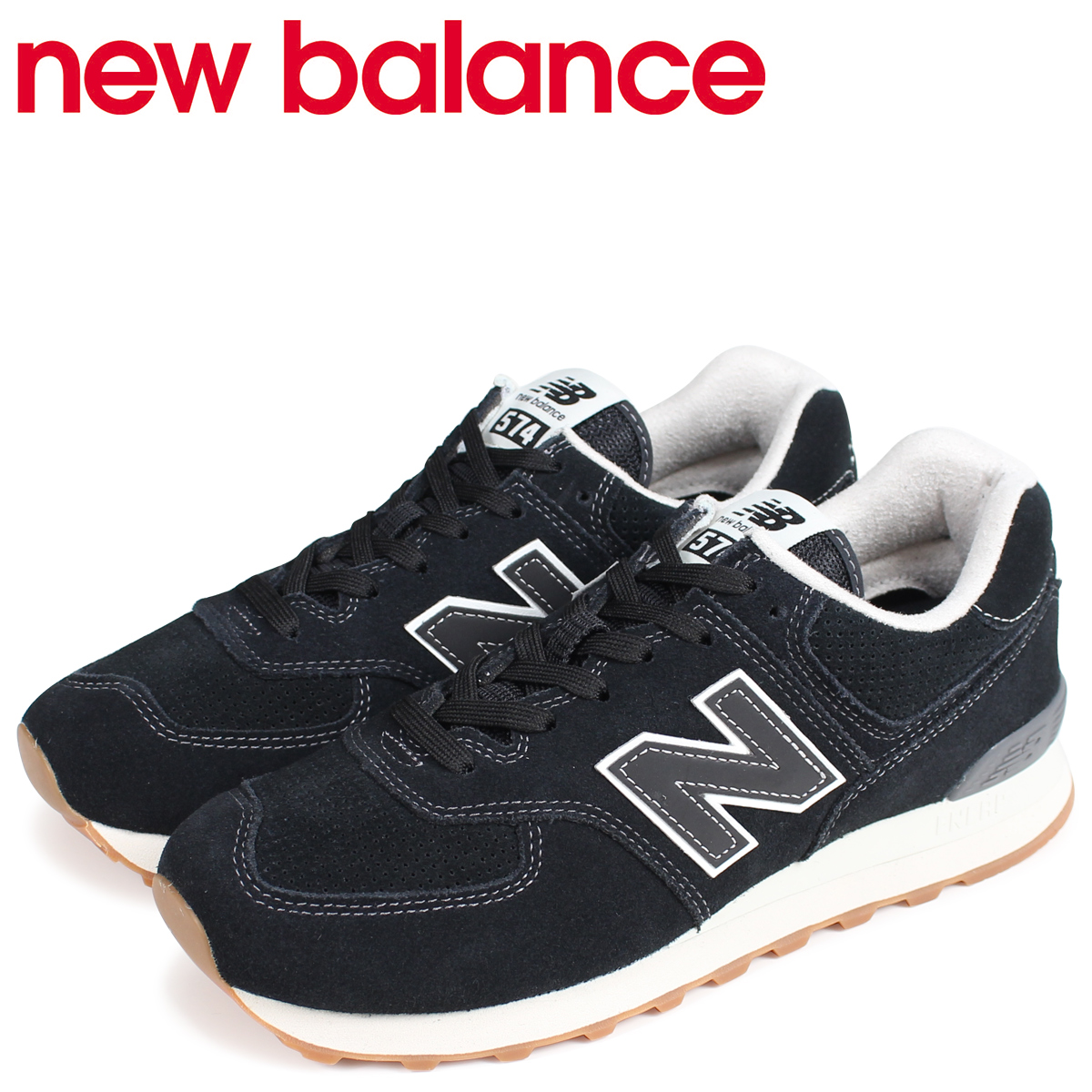 Sugar Online Shop  new balance 574 men s New Balance sneakers ML574ESE D  Wise black  9 12 Shinnyu load   8bfb13a5de0c