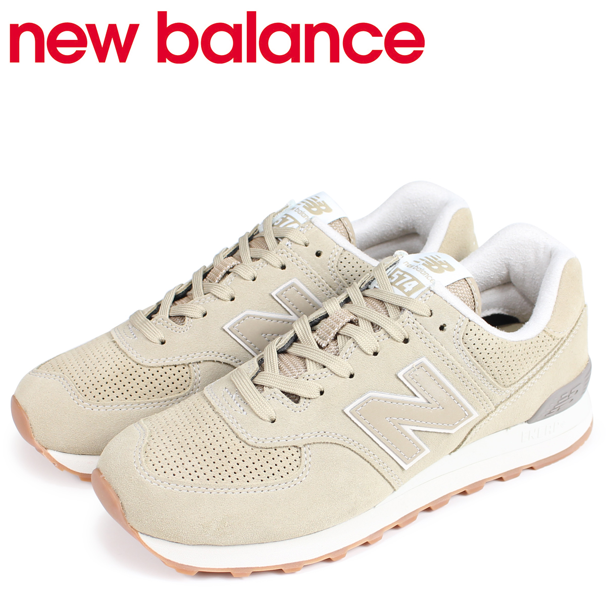 competitive price f2337 68173 new balance 574 men's New Balance sneakers ML574ESF D Wise beige