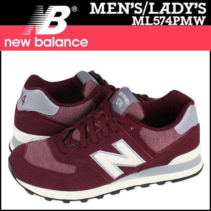 Sugar Online Shop   Rakuten Global Market: Point 2 x new balance new  balance ML574PMW sneakers D wise suede x Jersey mens Womens PACK PENNANT  Burgundy ...