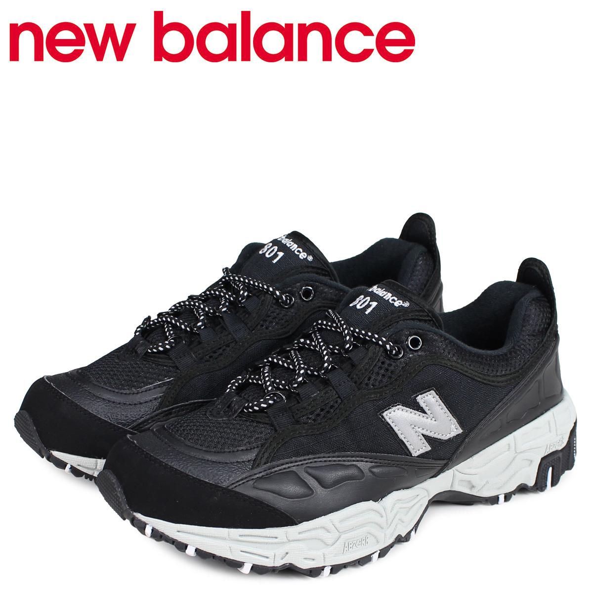 new balance ニューバランス 801 スニーカー メンズ Dワイズ ブラック 黒 ML801SA [4/3 新入荷]