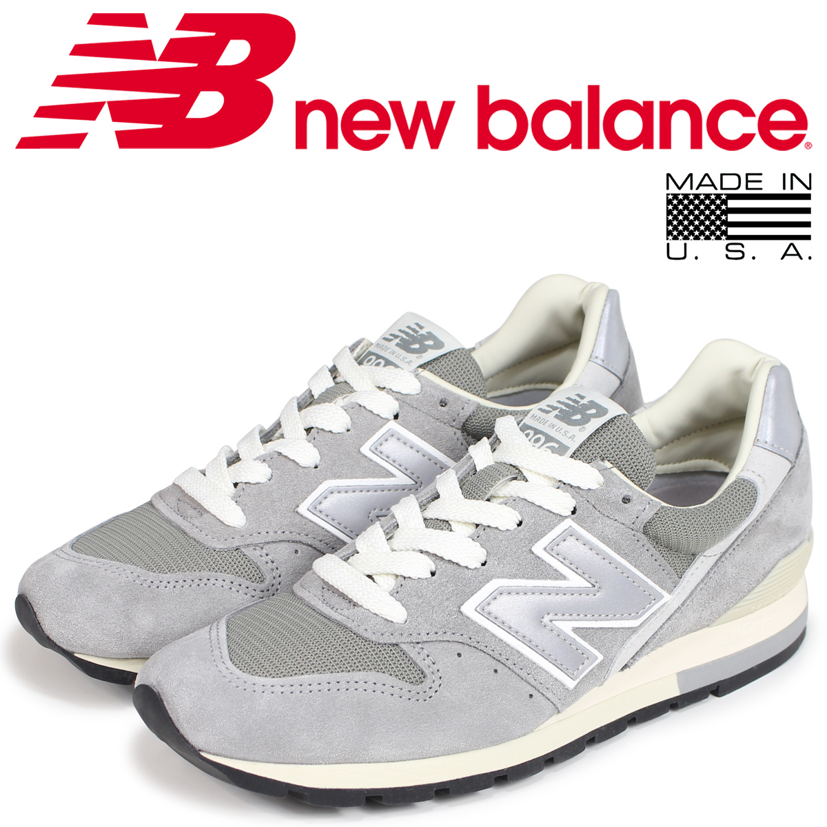 Sugar Global Online Shop | Rakuten Global Sugar Market: new balance 996 men's New Balance sneakers ML996DK D Wise MADE IN USA gray [load planned Shinnyu load in reservation product 7/26 containing] 3fb20c