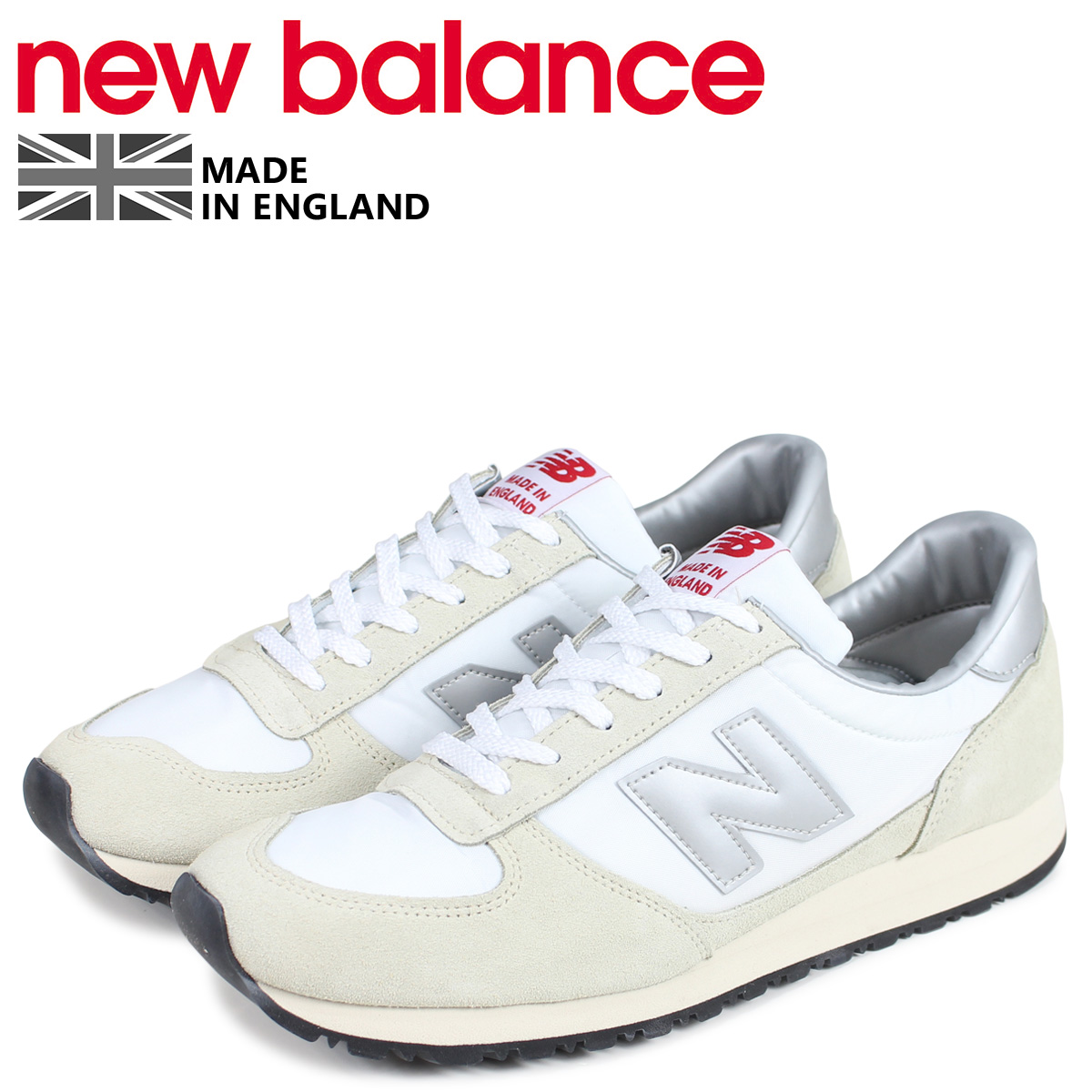 new balance ニューバランス スニーカー メンズ Dワイズ MADE IN UK ホワイト 白 MNCWSV
