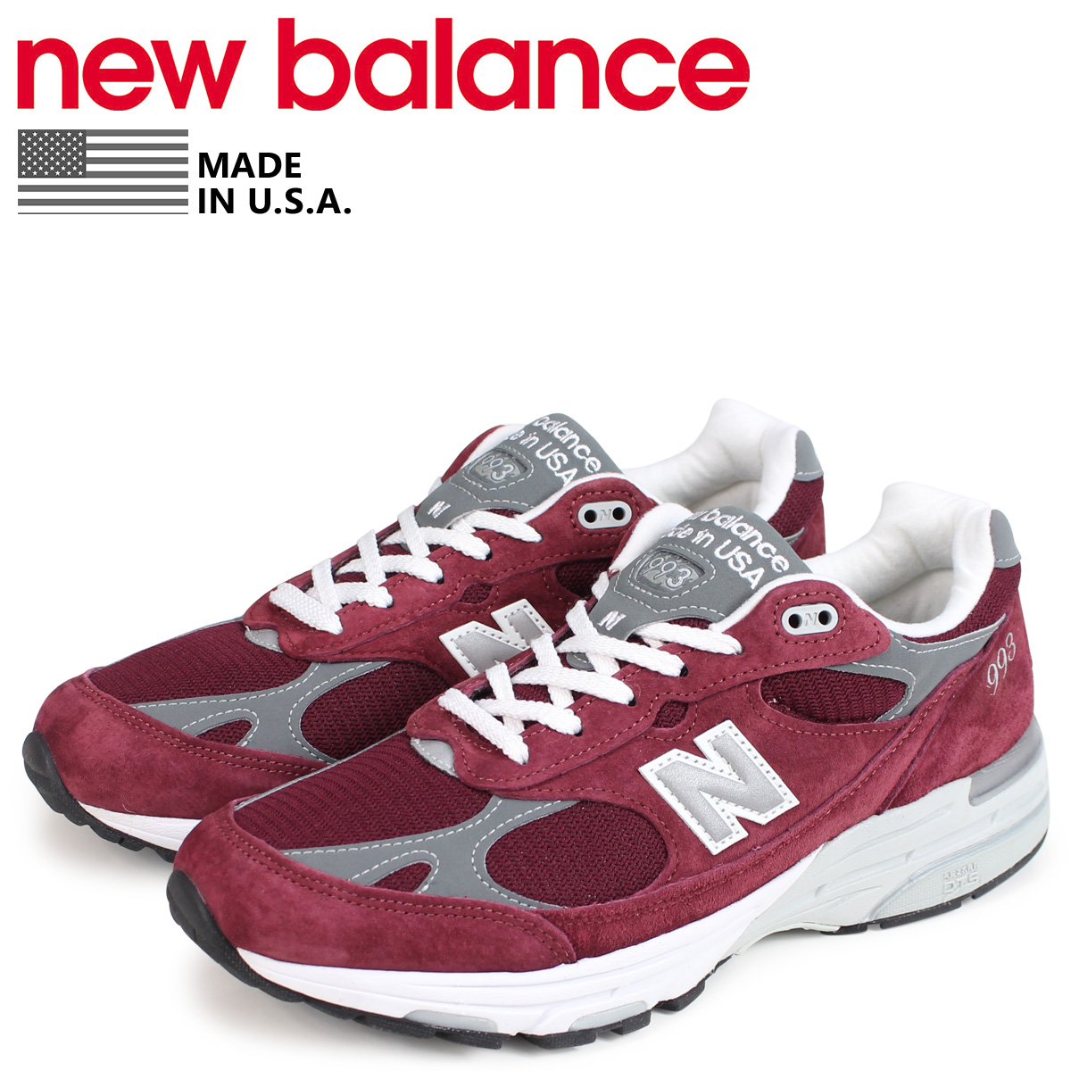 uk availability 9055c 663e9 new balance 993 New Balance men sneakers MR993BU D Wise MADE IN USA bar  Gandhi