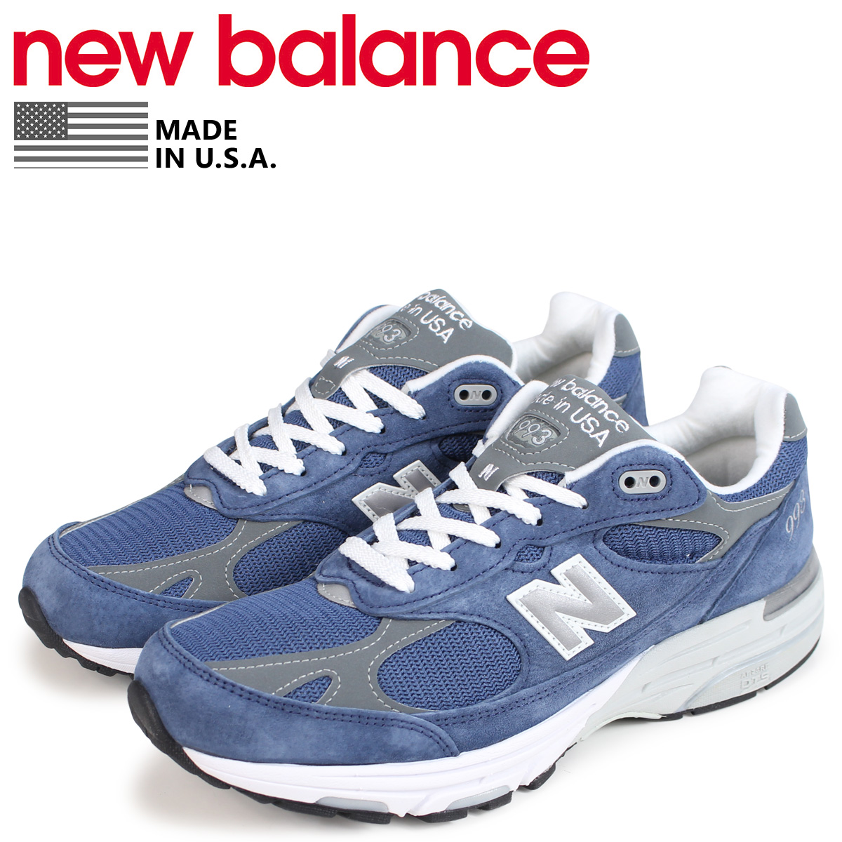on sale 715b0 065e2 new balance 993 men's New Balance sneakers MR993VI D Wise MADE IN USA blue