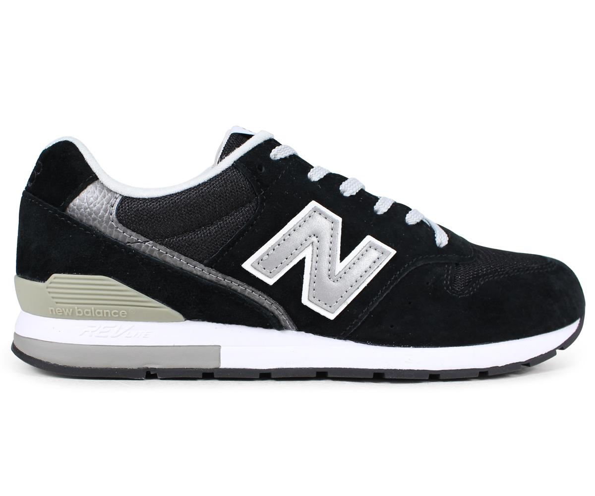 new balance 996 lady's men's New Balance sneakers MRL996BL D Wise shoes black black