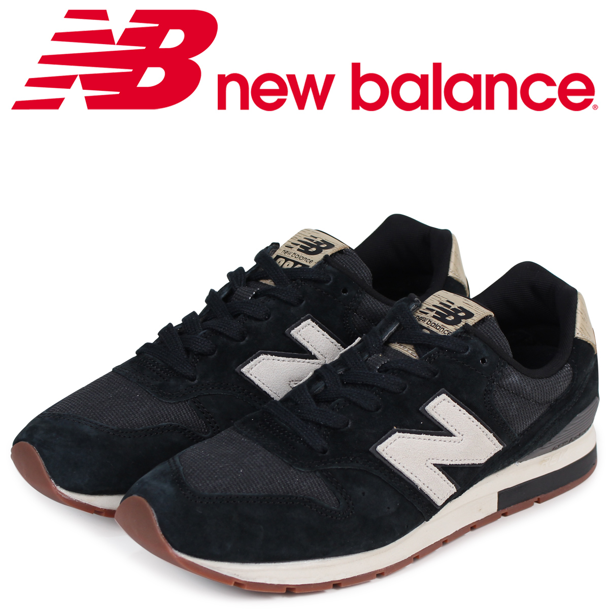 new arrival d2343 8d9ad new balance 996 men's New Balance sneakers MRL996PA D Wise black black