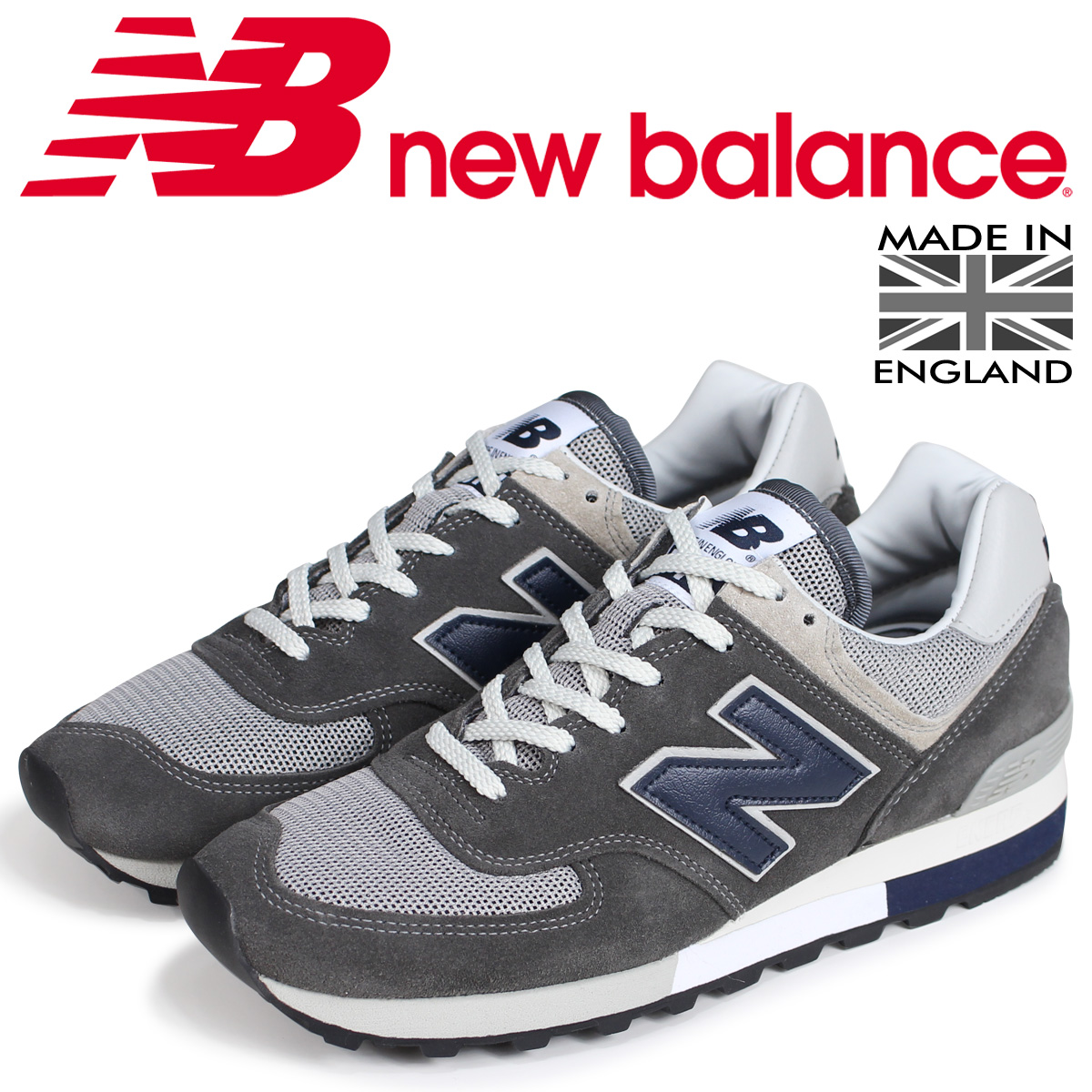 info for 7278a 16142 new balance 576 men's New Balance sneakers OM576OGG D Wise MADE IN UK gray