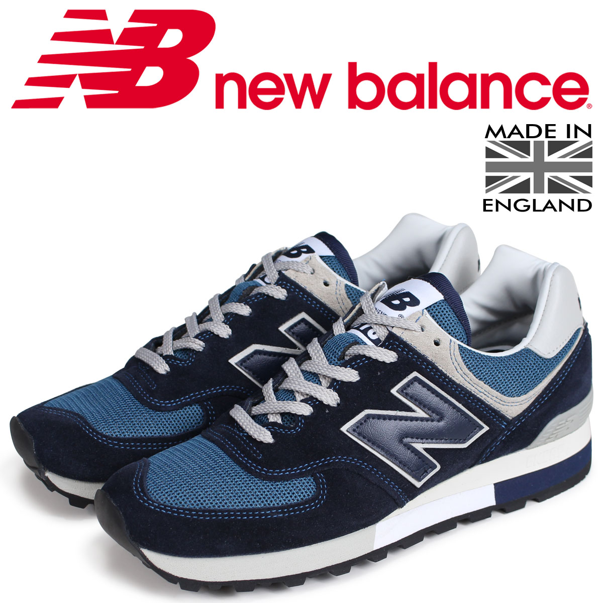 new balance 576 men's New Balance sneakers OM576OGN D Wise MADE IN UK navy  [load planned Shinnyu load in reservation product 7/6 containing]