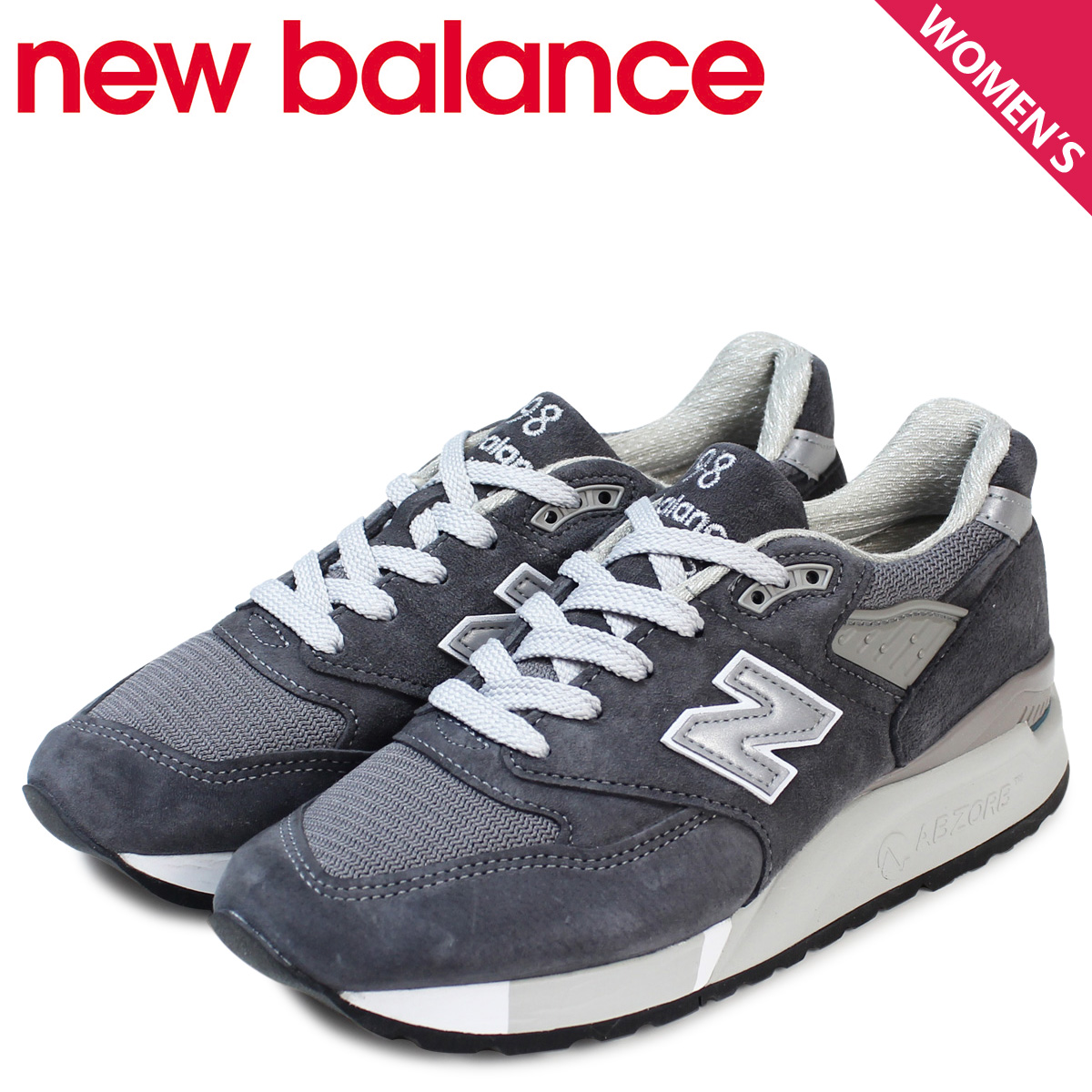 reputable site 180d8 f3c00 New Balance 998 Lady's new balance sneakers W998CH B Wise shoes gray