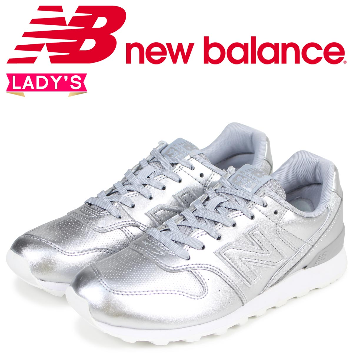 new balance metallic silver 996
