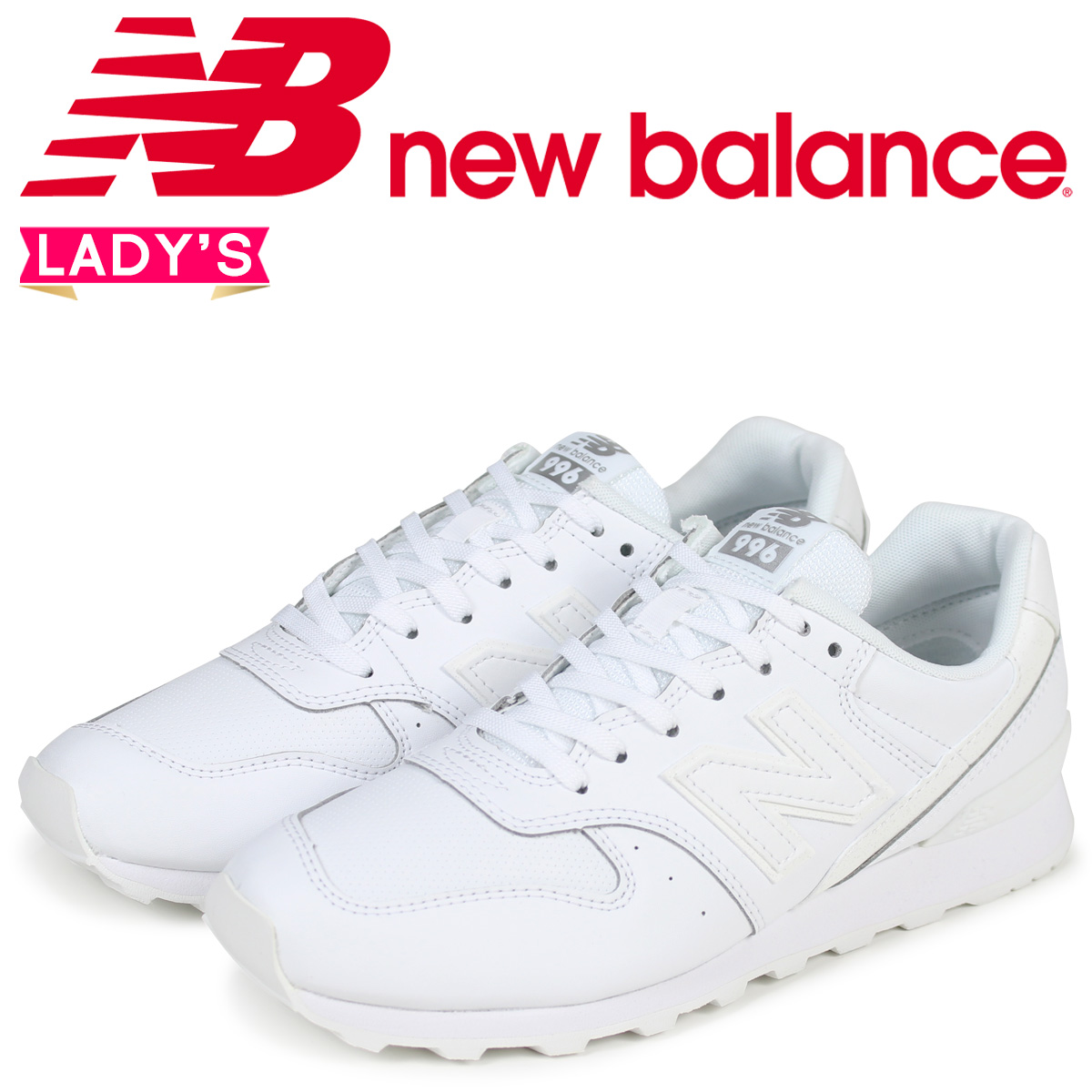 new balance 996 Lady s New Balance sneakers WR996SRW D Wise white  2 2  Shinnyu load  a07766323fe