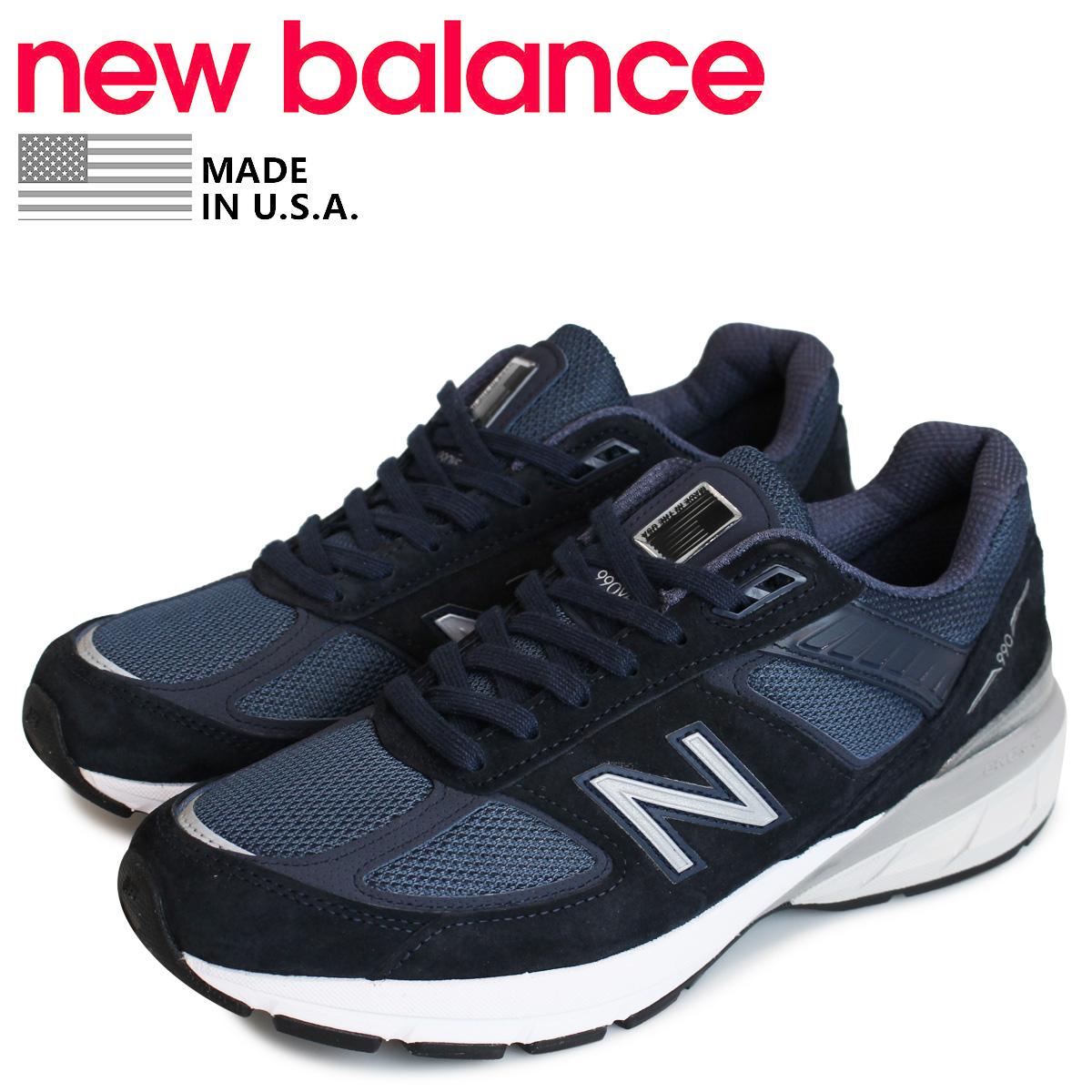 new balance ニューバランス 990 スニーカー メンズ Dワイズ MADE IN USA ネイビー M990NV5