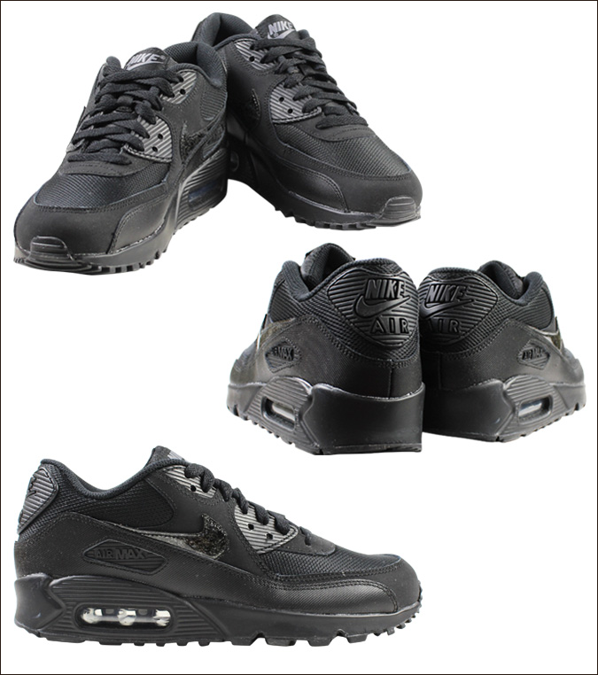 nike air max 90 mesh junior black