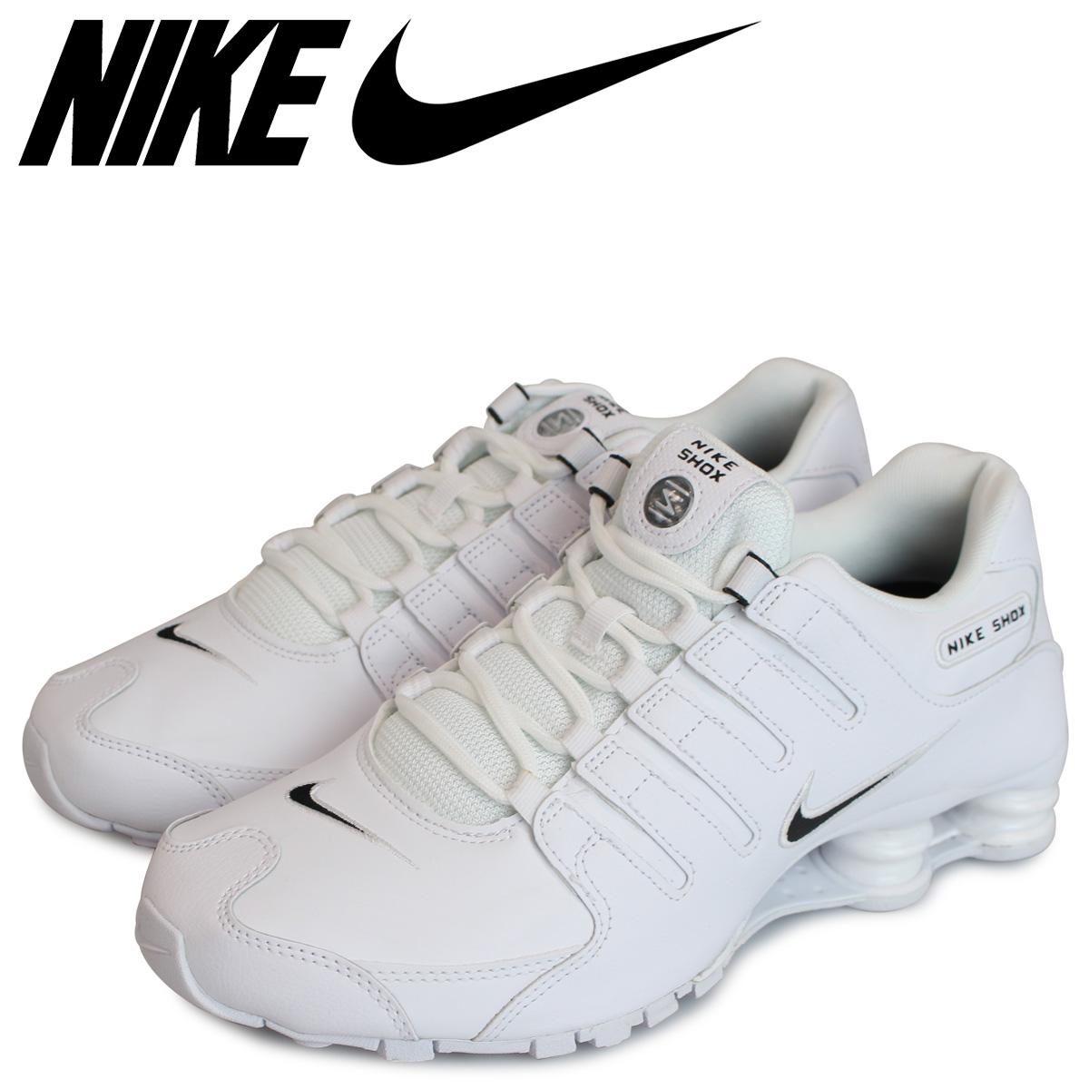 size 40 9a505 dae0f NIKE Nike shocks sneakers men SHOX NZ white white 852,629-300