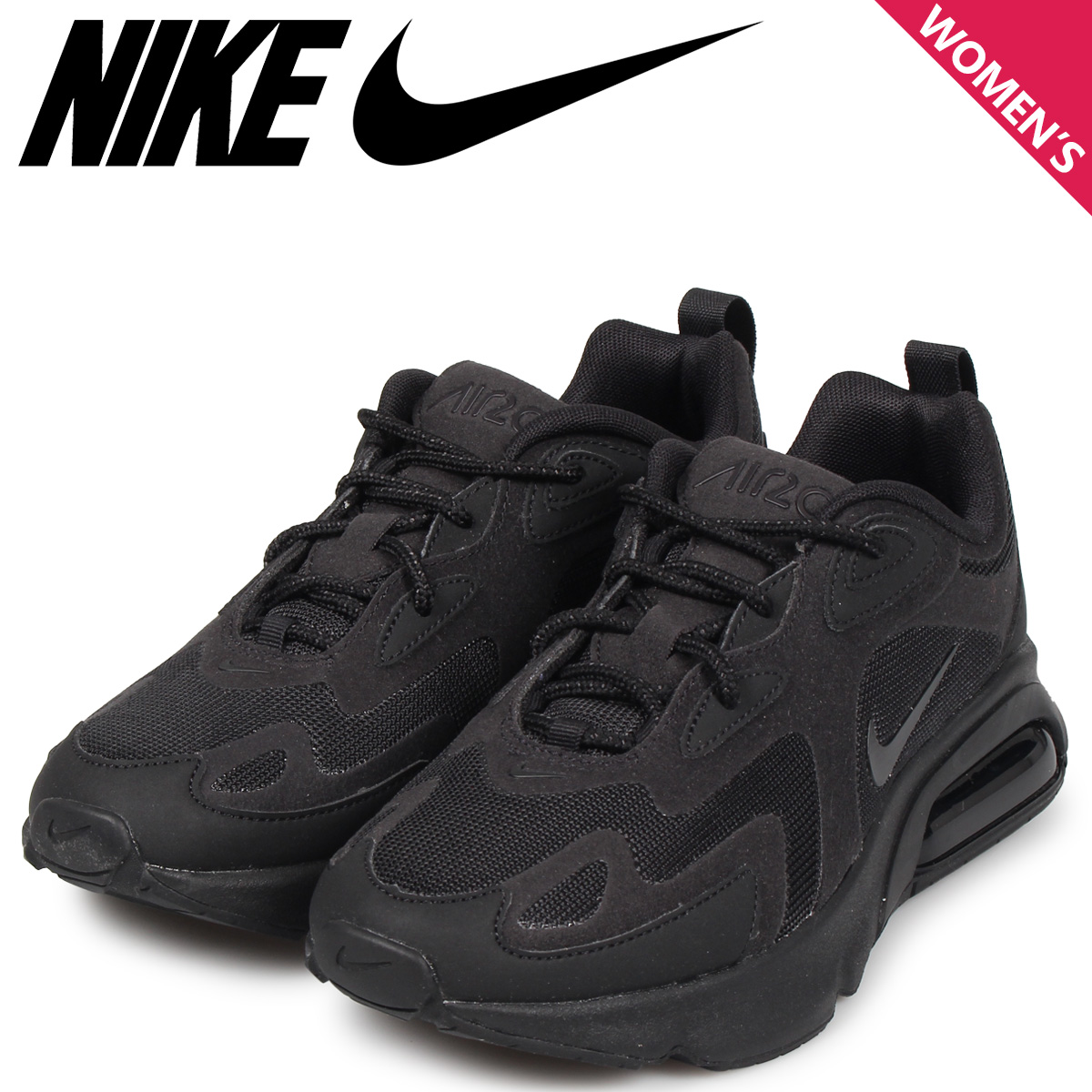 NIKE Kie Ney AMAX 200 sneakers Lady's WMNS AIR MAX 200 black black AT6175 003