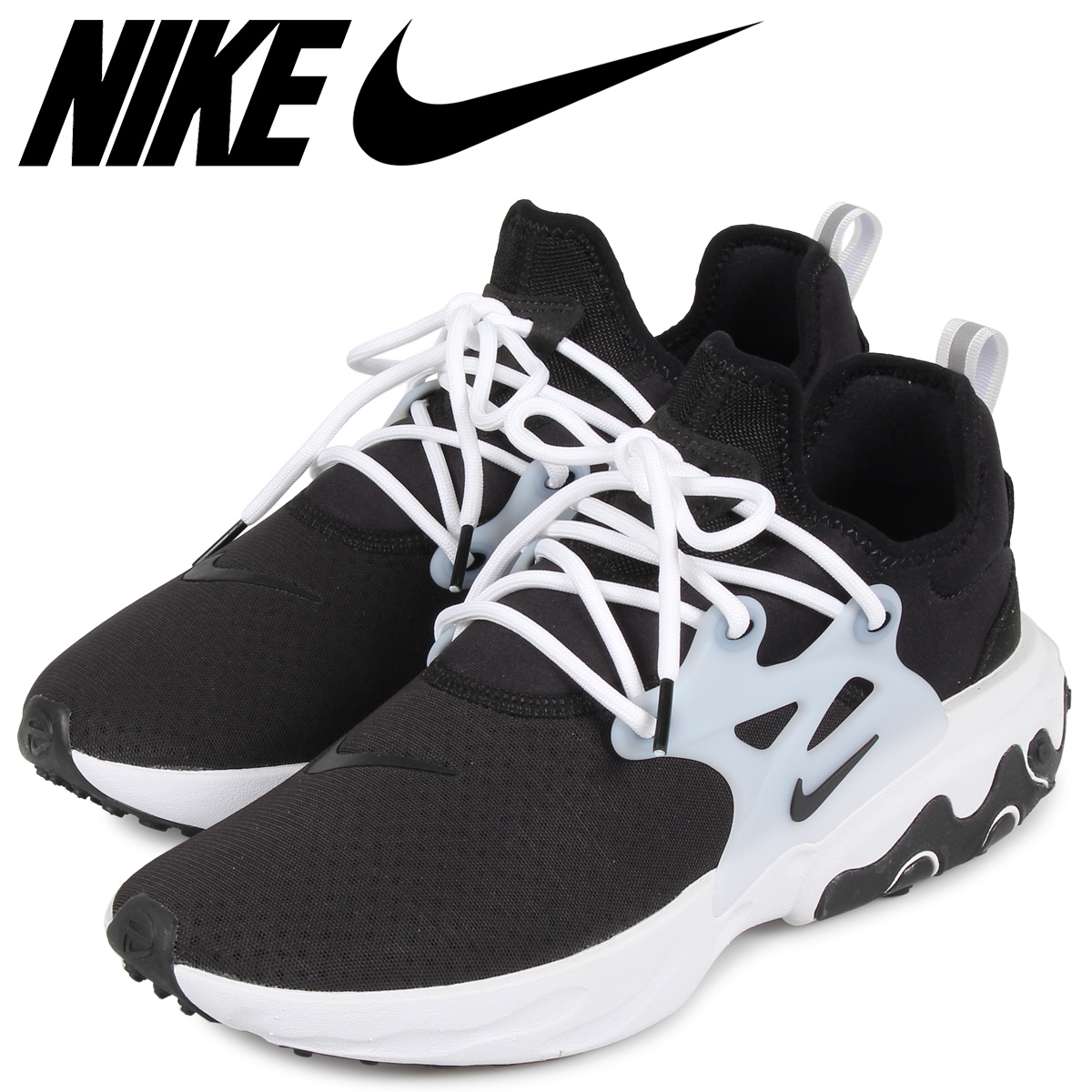 NIKE Ney drill act presto sneakers men REACT PRESTO black black AV2605-003  [load planned Shinnyu load in reservation product 7/26 containing]
