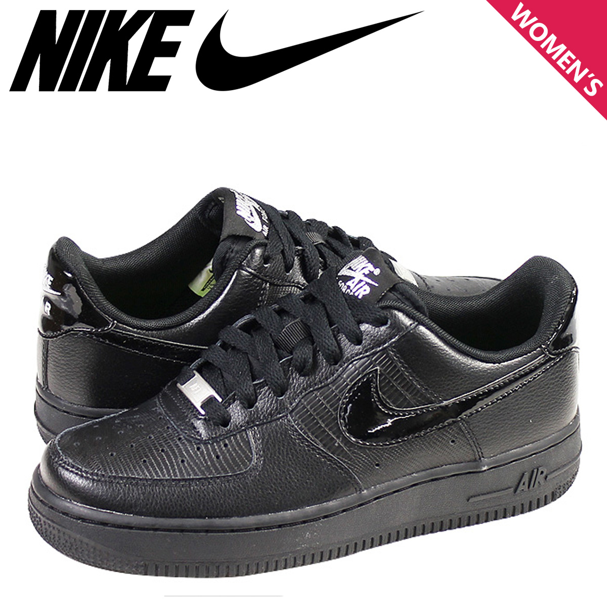 Nike NIKE Womens WMNS AIR FORCE 1 07 LE sneakers air force 1 07 limited  edition leather mens 315115-037 BLACK BLACK black  11   7 new in stock    regular  89939db9fab1