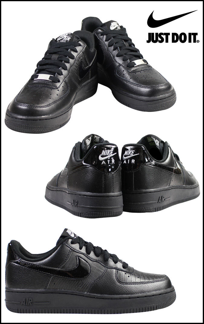 NIKE Nike air force sneakers Lady's WMNS AIR FORCE 1 07 air force 1 315,115 037 men's shoes black black