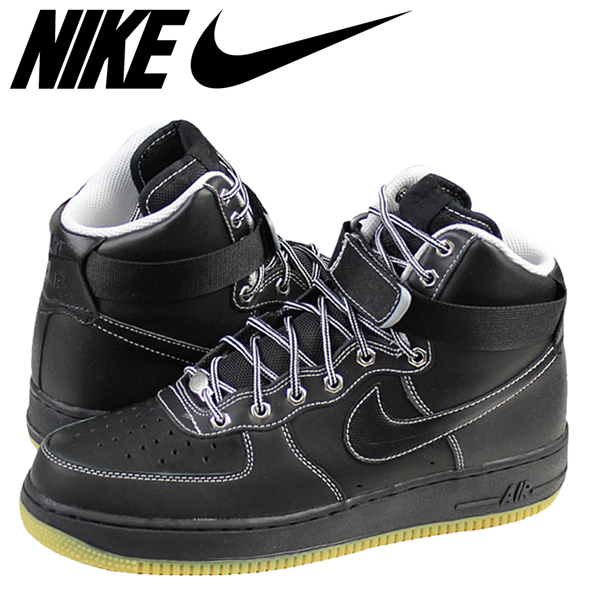 NIKE Nike air force sneakers AIR FORCE 1 HI 07 air force 1 high 315,121-028  men's shoes black black