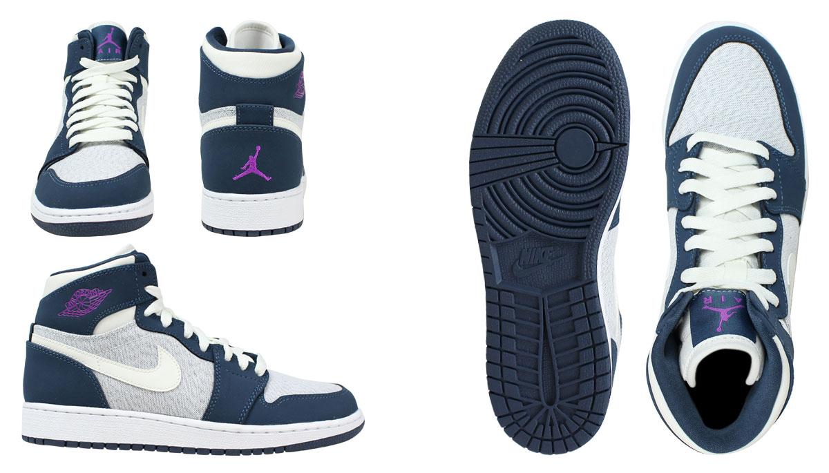 NIKE Nike Air Jordan sneakers Lady's AIR JORDAN 1 RETRO HI GS Air Jordan 1 nostalgic high 332,148 117 shoes navy