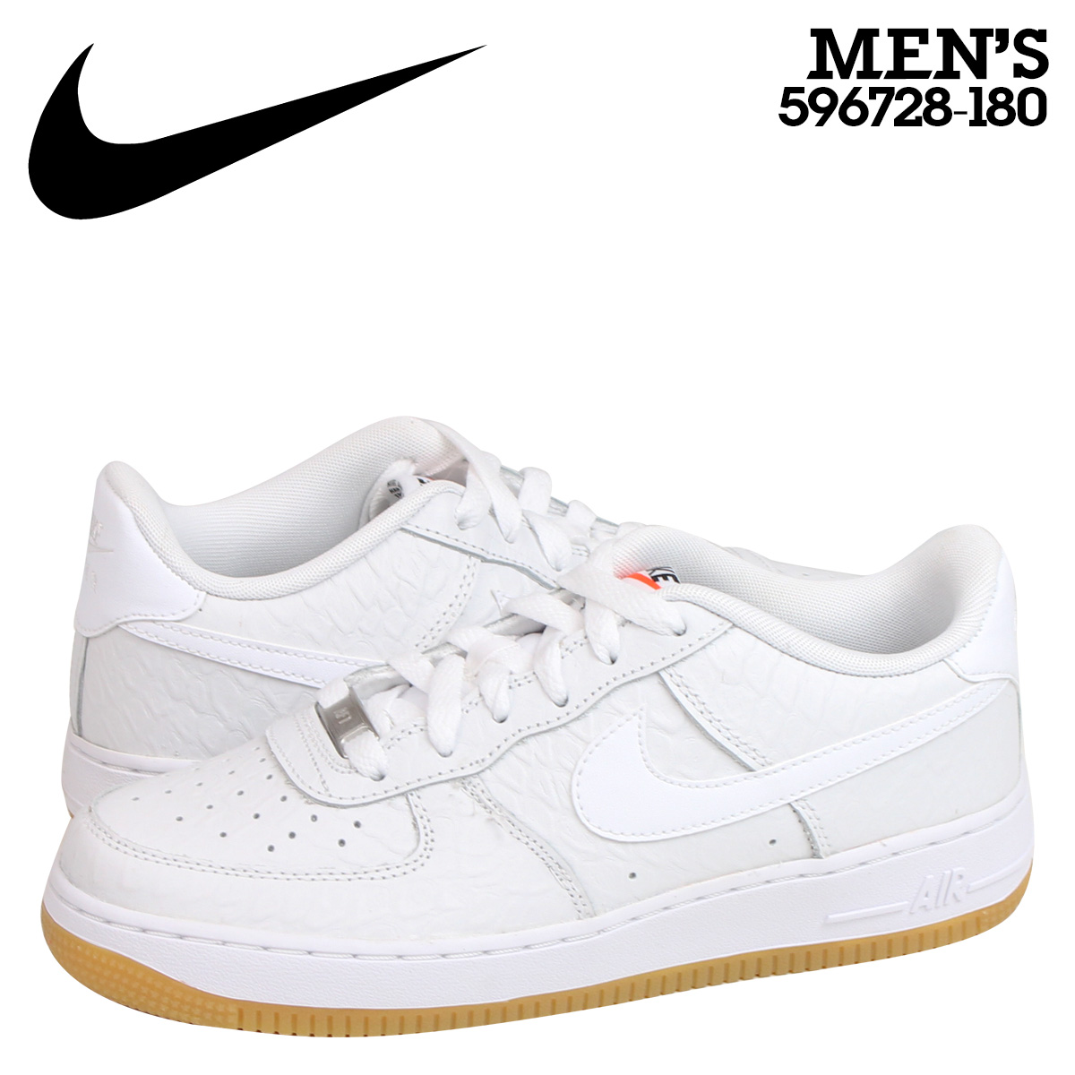 o rozsądnej cenie gdzie kupić bardzo popularny NIKE Nike air force sneakers Lady's AIR FORCE 1 LOW GS air force 1 low  596,728-180 shoes white white
