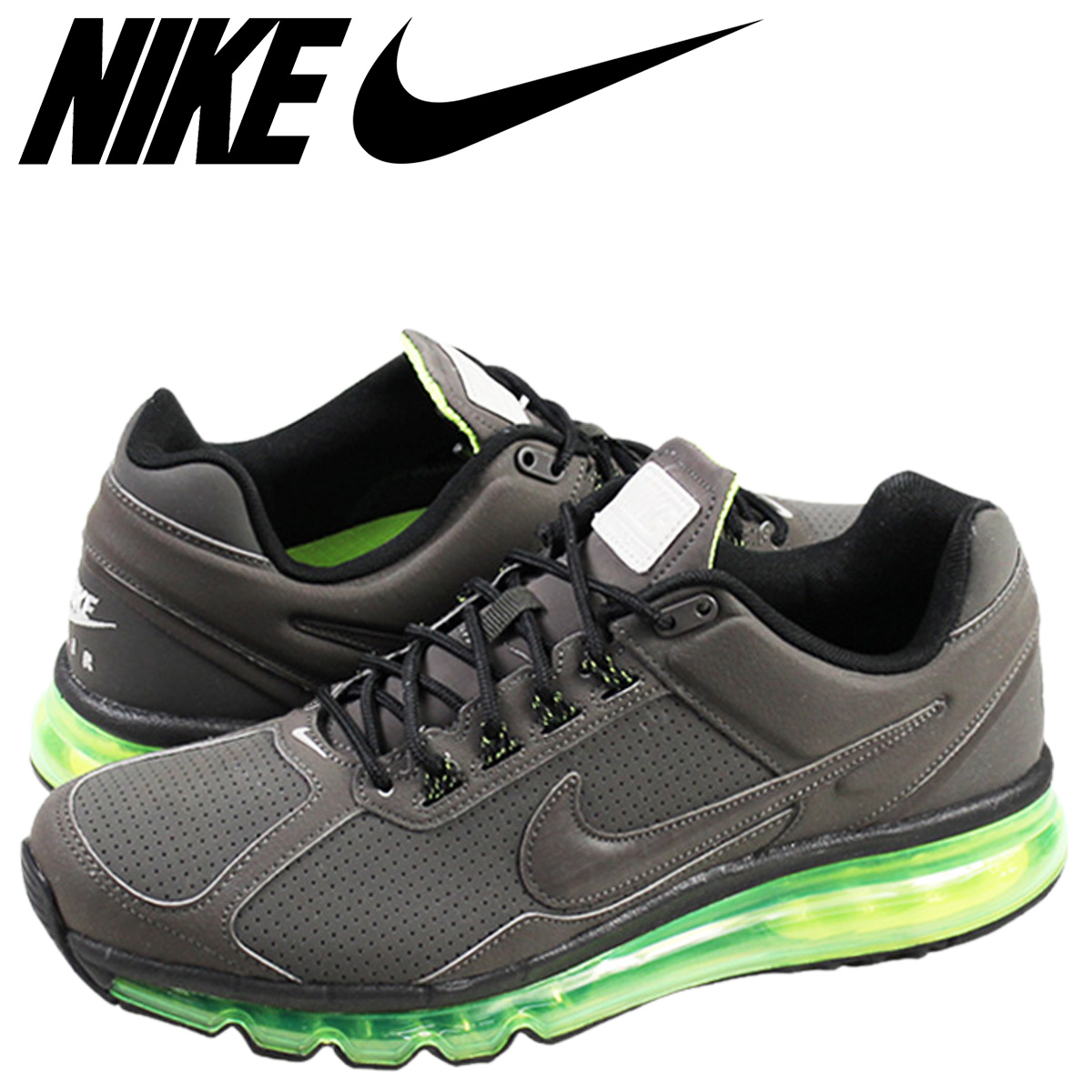 NIKE Kie Ney AMAX sneakers AIR MAX 2013 LEATHER Air Max 2013 599,455 007 men's shoes gray