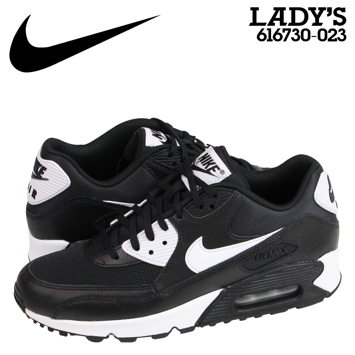 sports shoes f6ba8 80cf3 Sugar Online Shop   SOLD OUT  Nike NIKE Air Max sneakers Womens WMNS AIR  MAX 90 ESSENTIAL Air Max 90 essential 616730 - 023 shoes black   Rakuten  Global ...