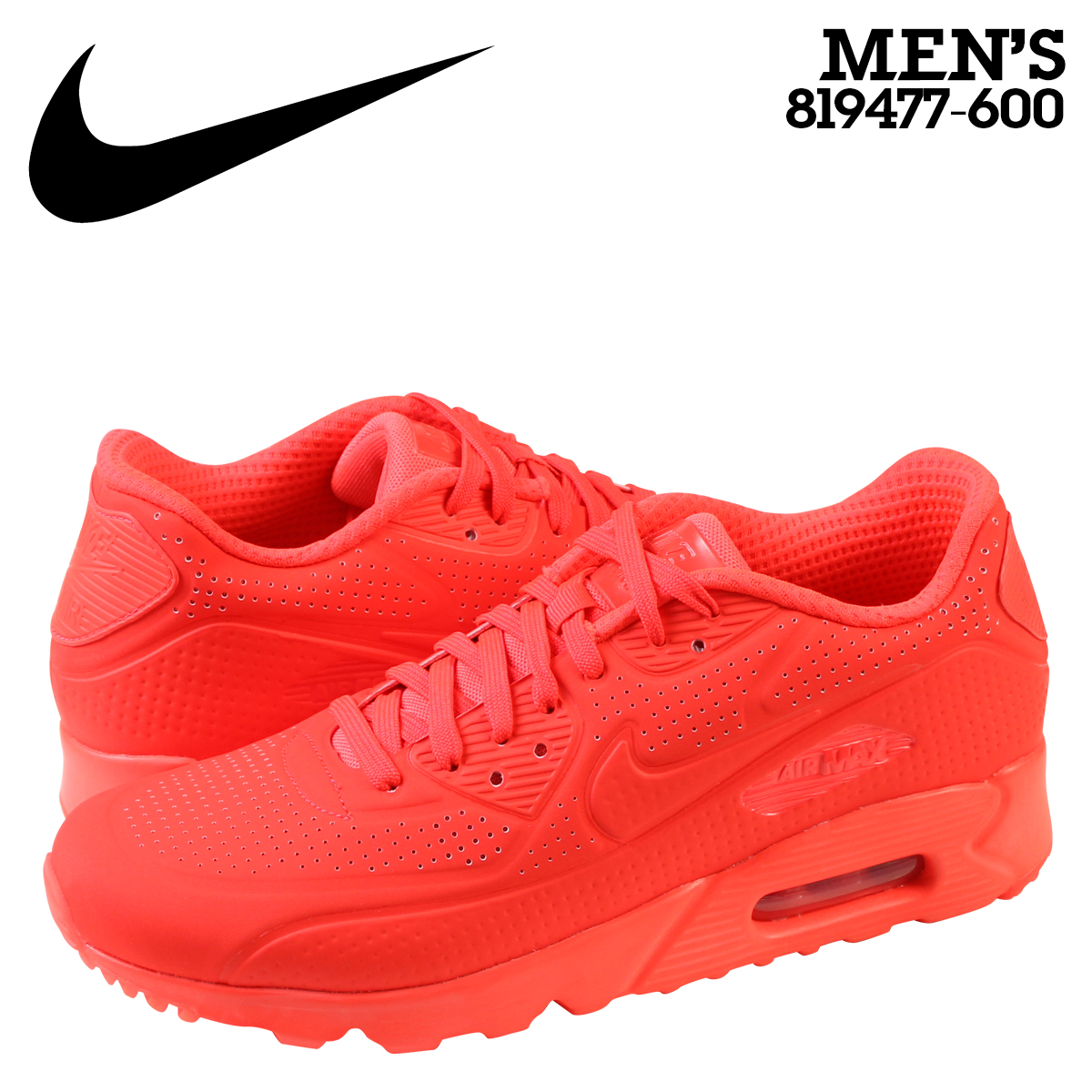 the latest a141b 4cc41 Nike NIKE Air Max sneakers AIR MAX 90 ULTRA MOIRE Air Max 90 ultra moire  819477-600 Crimson men s shoe Red