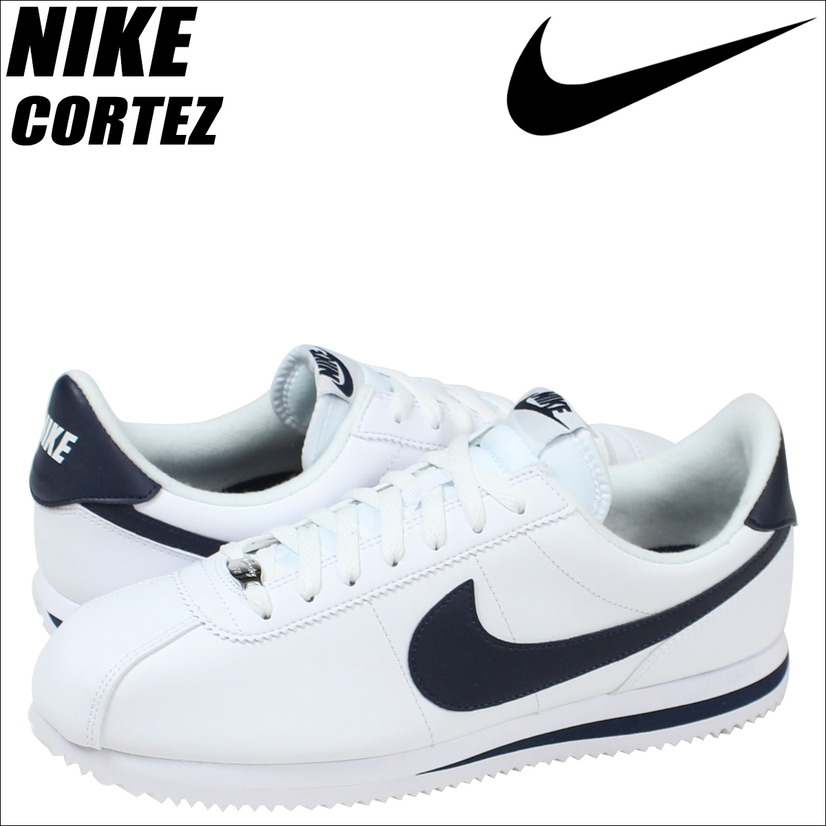 [SOLD OUT]耐克NIKE korutettsusunika CORTEZ BASIC LEATHER 819719-141人鞋白