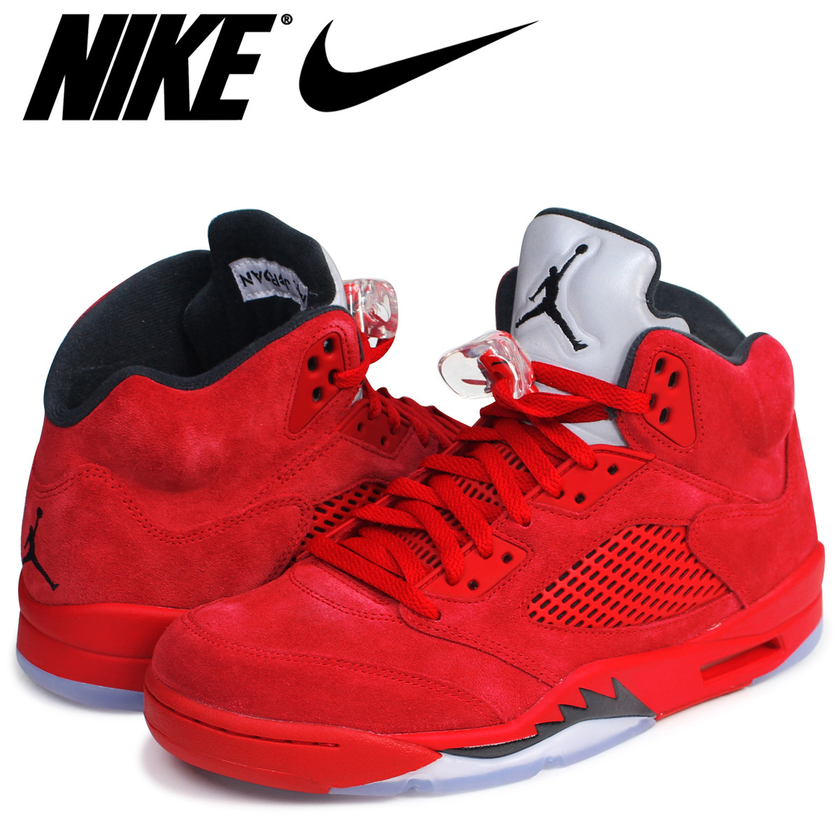 Sugar Online Shop: Nike NIKE Air Jordan sneakers AIR JORDAN 5 RETRO Air  Jordan 5 nostalgic 136,027-602 men's shoes red [7/13 Shinnyu load] |  Rakuten Global ...