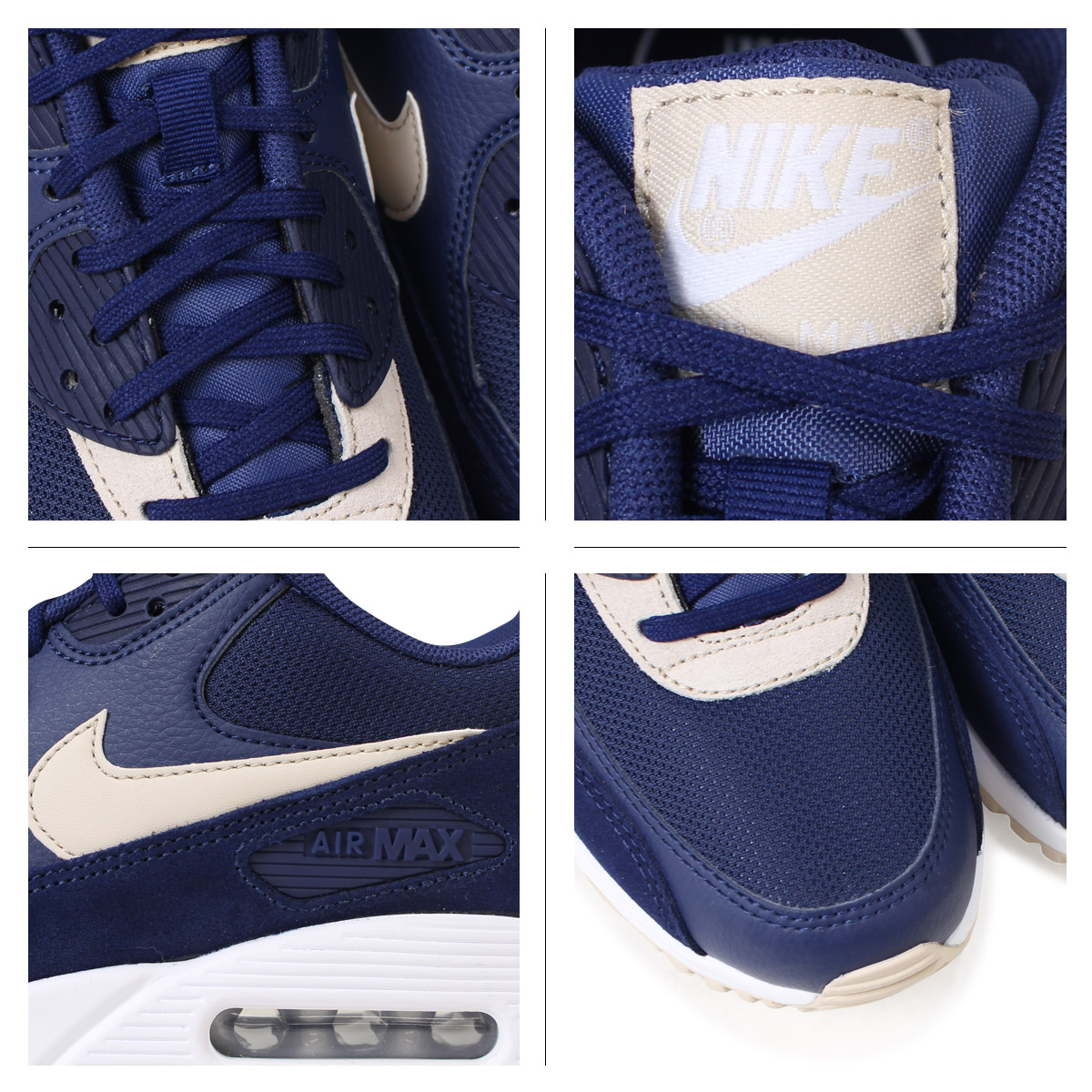 best service 95e59 6df1e Nike NIKE Air Max 90 lady s men s sneakers WMNS AIR MAX 90 325,213-410 blue   2 27 Shinnyu load