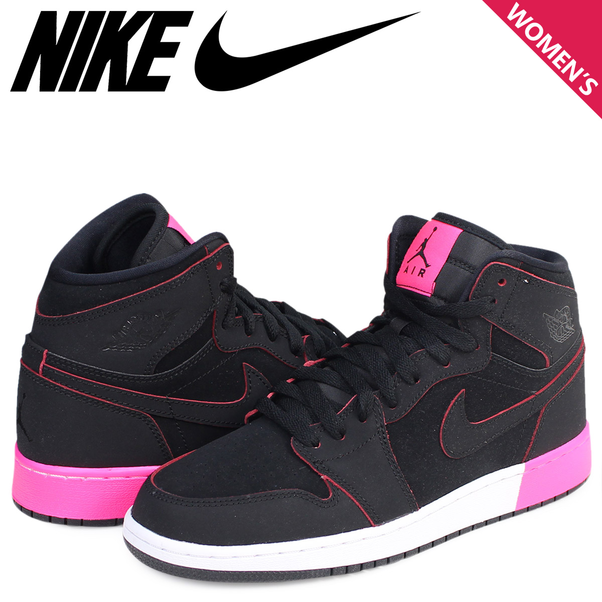 86e1a7eb4365c Sugar Online Shop: Nike NIKE Air Jordan 1 nostalgic lady's sneakers AIR  JORDAN 1 RETRO HIGH GS 332,148-024 shoes black [7/21 Shinnyu load] |  Rakuten Global ...
