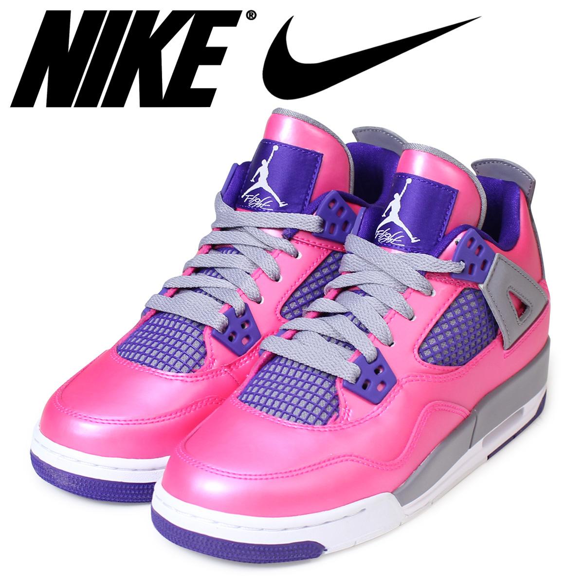 designer fashion cc680 b54bf NIKE Nike Air Jordan sneakers Lady's AIR JORDAN 4 RETRO GS Air Jordan 4  nostalgic 487,724-607 shoes pink