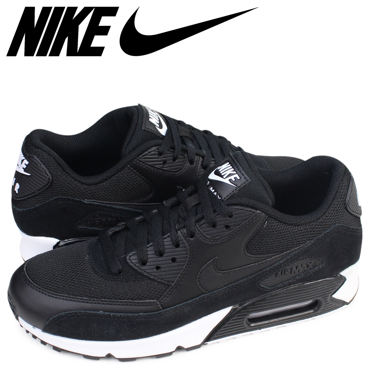 Nike Air Max 90 Essential Black Black White 537384 077
