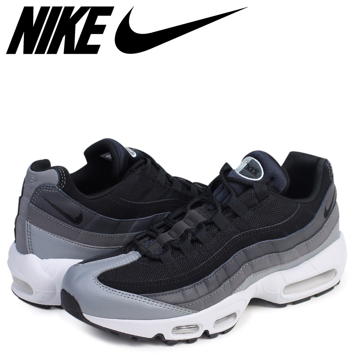 online store 986b7 8d610 Sugar Online Shop  Nike NIKE Air Max 95 essential sneakers AIR MAX 95  ESSENTIAL 749,766-021 men s shoes black  7 14 Shinnyu load    Rakuten  Global Market