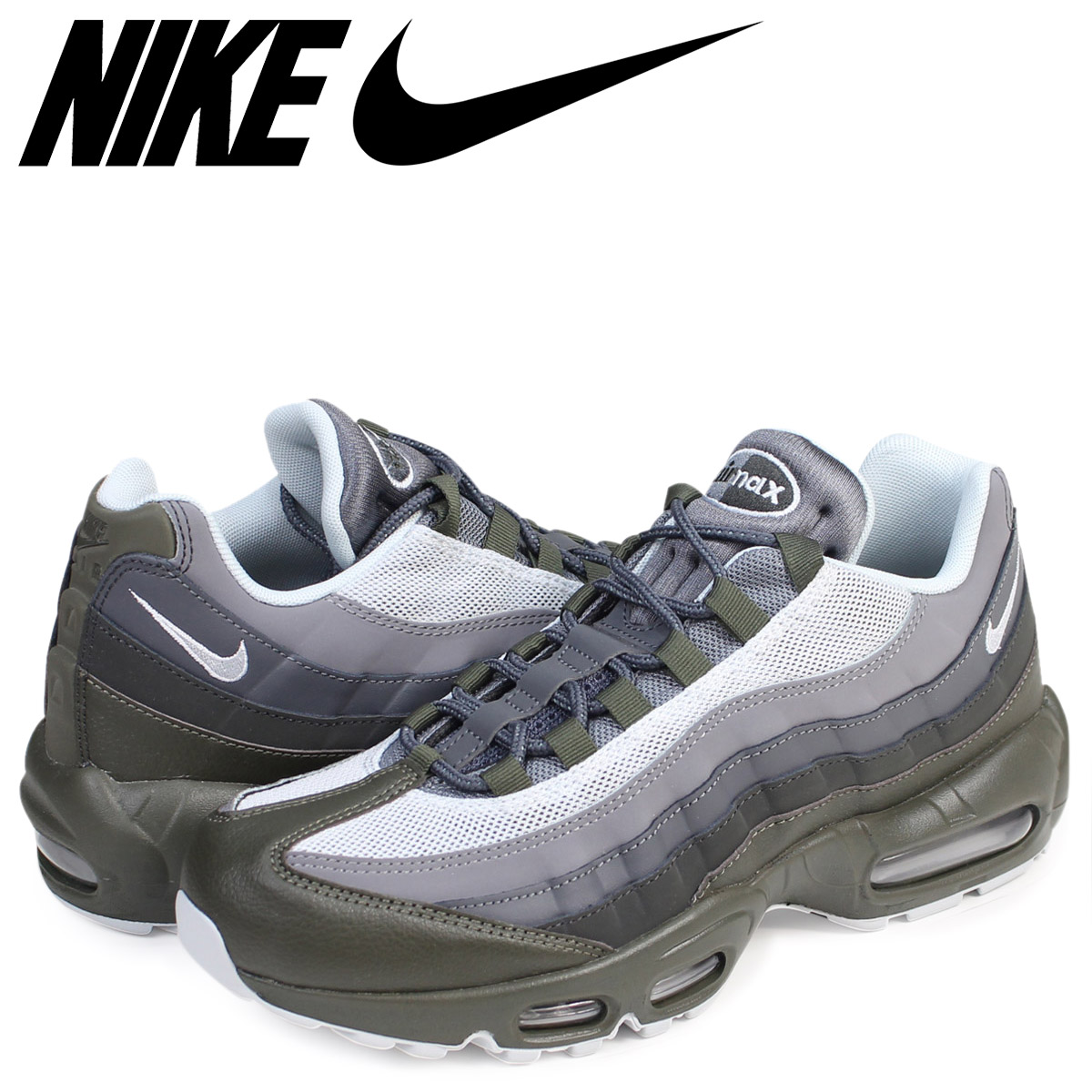 new product b9b40 e848b Nike NIKE Air Max 95 essential sneakers AIR MAX 95 ESSENTIAL 749,766-302  men s shoes khaki  7 14 Shinnyu load