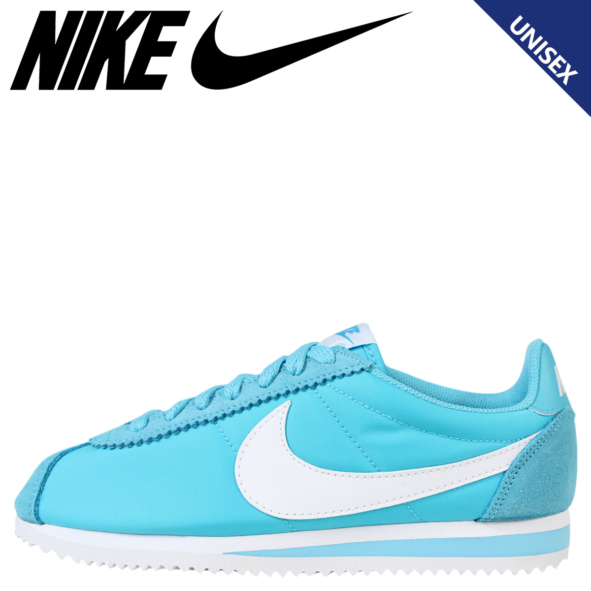 brand new 849be d30ab NIKE Nike Cortez sneakers Womens CLASSIC CORTEZ NYLON 749864-410 men s  shoes blue