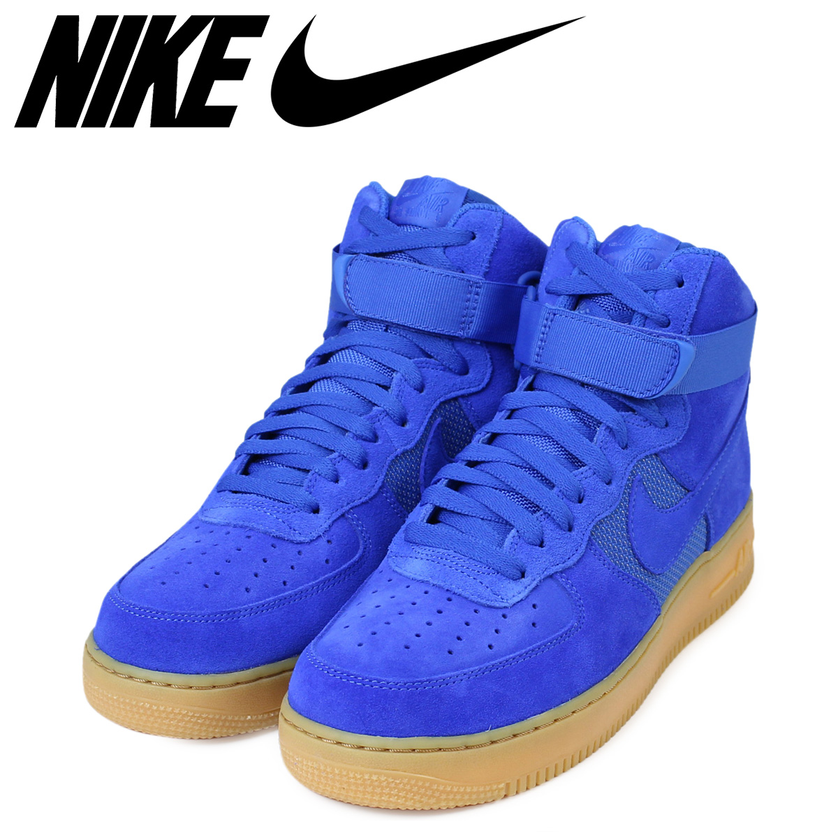 NIKE Nike air force men sneakers AIR FORCE 1 HIGH '07 LV8 806,403 400 shoes blue