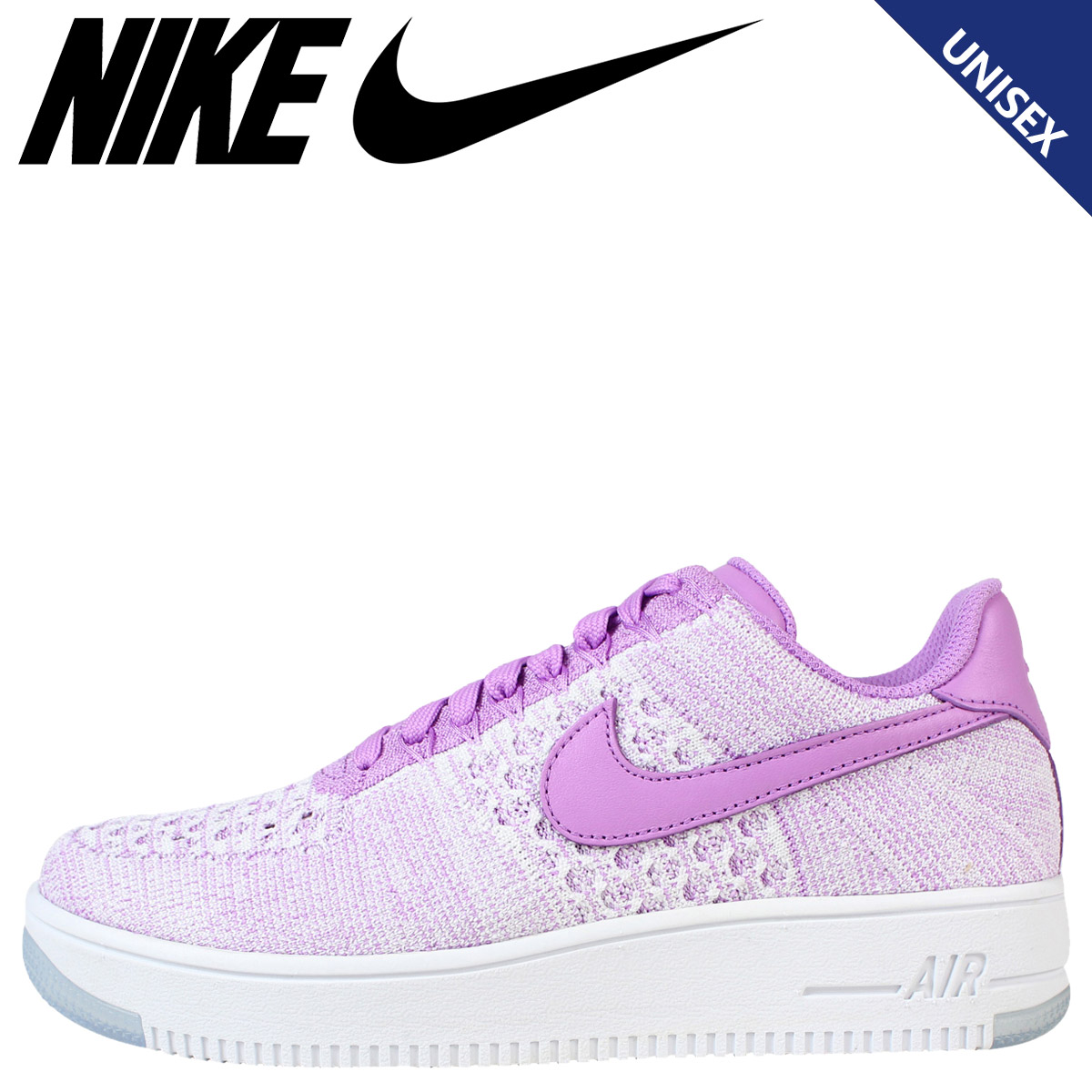 NIKE Nike Air Force sneakers Womens WMNS AIR FORCE 1 FLYKNIT LOW air force 1 Flint 820256 – 500 men's shoes pink