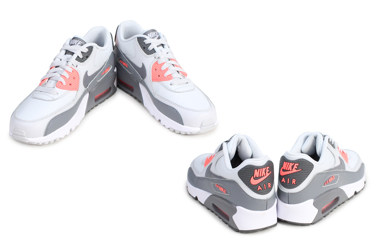 quality design 39243 ea3ae Nike NIKE Air Max 90 Lady s sneakers AIR MAX 90 LTR GS 833,376-006 shoes  white  5 11 Shinnyu load