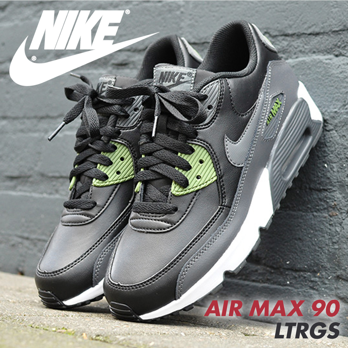 new styles e302e 8f427 Nike NIKE Air Max 90 Lady s sneakers AIR MAX 90 LTR GS 833,412-008  833,412-009 shoes  5 11 Shinnyu load